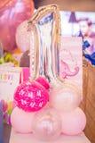 Palloni di compleanno Fotografie Stock