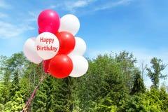 Palloni di compleanno Immagine Stock Libera da Diritti