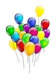 Palloni di compleanno isolati Fotografie Stock