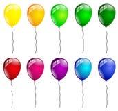 Palloni di compleanno isolati Fotografia Stock Libera da Diritti