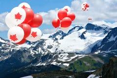 Palloni di giorno del Canada Immagini Stock