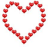 Palloni di giorno di biglietti di S. Valentino Fotografie Stock Libere da Diritti