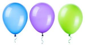 Palloni di volo isolati Immagini Stock Libere da Diritti