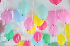 Palloni misti del partito di colore Fotografie Stock