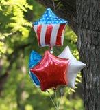 Palloni patriottici rossi, bianchi e blu Immagini Stock