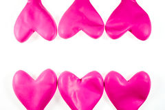 Palloni rosa del cuore Immagine Stock