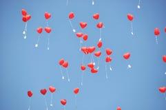 Palloni rossi Fotografie Stock