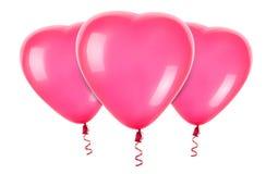Palloni rossi del cuore Fotografia Stock Libera da Diritti