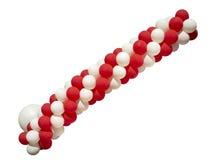Palloni rossi e bianchi isolati su fondo bianco Immagini Stock Libere da Diritti