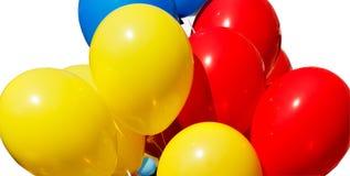 Palloni rossi e blu gialli Fotografia Stock