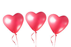 Palloni rossi a forma di del cuore Immagini Stock Libere da Diritti