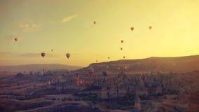 Palloni sopra il Cappadocia Immagine Stock Libera da Diritti