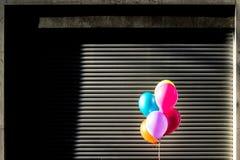 Palloni variopinti alla luce solare Fotografie Stock Libere da Diritti