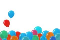 Palloni variopinti di compleanno Immagini Stock
