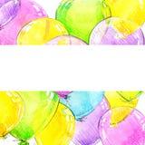 Palloni variopinti e fondo di compleanno illustrazione vettoriale