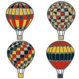 Palloni variopinti e luminosi in grafica vettoriale Fotografie Stock