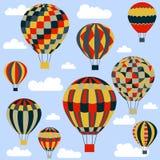 Palloni variopinti e luminosi in grafica vettoriale Fotografie Stock Libere da Diritti