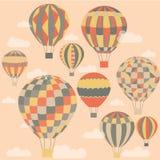 Palloni variopinti e luminosi in grafica vettoriale Immagine Stock