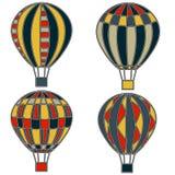 Palloni variopinti e luminosi in grafica vettoriale Fotografia Stock Libera da Diritti