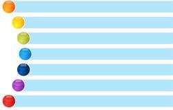 Pallottola curva relazione circolare in bianco del diagramma di affari sette Immagine Stock