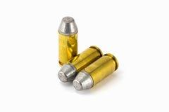 pallottola del semiwadcutter di 45 ACP isolata su un fondo bianco Fotografie Stock