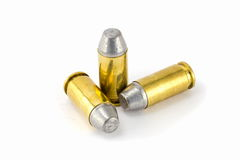 pallottola del semiwadcutter di 45 ACP isolata sullo stac bianco del fondo Fotografia Stock Libera da Diritti