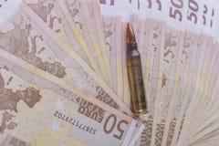 Pallottola dell'euro cinquanta Fotografia Stock Libera da Diritti