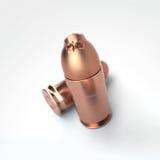 Pallottola della pistola con un cranio Fotografia Stock Libera da Diritti