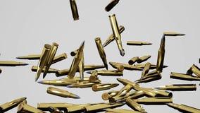Pallottole che cadono video d archivio