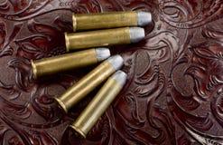 45-60 pallottole d'ottone del riffle Fotografia Stock Libera da Diritti