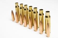 Pallottole del fucile separate Fotografia Stock