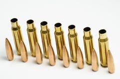 Pallottole del fucile separate Immagini Stock