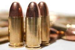 pallottole di 9mm Fotografia Stock