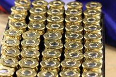 Pallottole di rame delle munizioni Immagini Stock Libere da Diritti