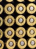 Pallottole di rame delle munizioni Fotografia Stock