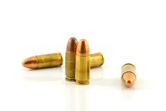 Pallottole isolate su fondo bianco Fotografia Stock