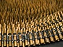 7 pallottole mitragliatrici di 62mm Immagine Stock Libera da Diritti