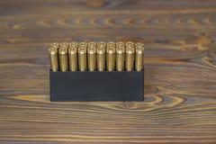 Pallottole per cercare sul legno Fotografie Stock Libere da Diritti