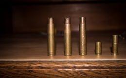 Pallottole sulla Tabella Immagine Stock