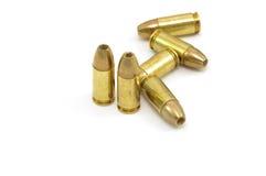 pallottole vuote del punto di 9mm Fotografie Stock Libere da Diritti