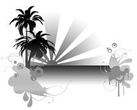 Palm. A badge usefull for every season moment, but perfect for exotic holiday Stock Photography
