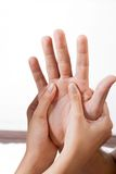Palm Acupressure Treatment Royalty Free Stock Photography