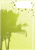 Palm banner vector. This image is a palm tree vector illustration Stock Photo