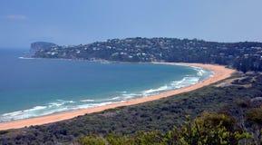 Palm Beach één van Sydney& x27; s iconische noordelijke stranden stock fotografie