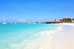 Palm Beach на Аруба Стоковые Изображения RF