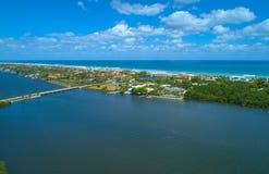 Palm Beach aérien la Floride d'image Image stock