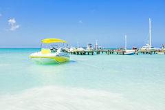 Palm Beach at Aruba Island Stock Photos