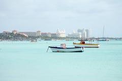 Palm Beach on Aruba island in the Caribbean Stock Image