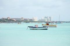 Palm Beach on Aruba island in the Caribbean. Sea Stock Photos