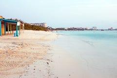 Palm Beach at Aruba island Royalty Free Stock Photography